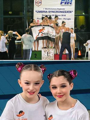 Le ragazze dell'Azzurra Race Team incantano l'Umbria del sincro e conquistano 4 ori