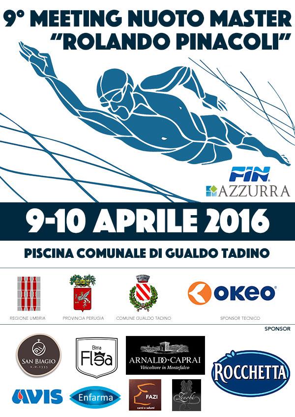 """9° Meeting """"Pinacoli"""" X Master  9-10 Aprile"""