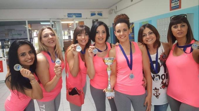 Acquafitness, medaglia d'argento per il team Azzurra al Criterium Fitness