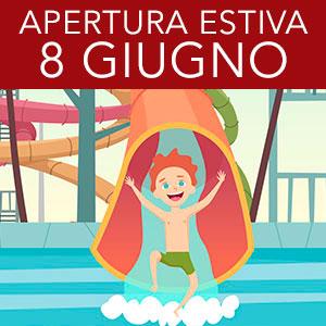 Apertura piscine estive 8 Giugno. Abbonamento stagionale 80€ fino al 30.06