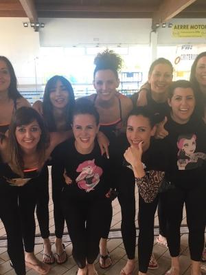 La ragazze dell'Acquafitness di Azzurra nella top ten italiana