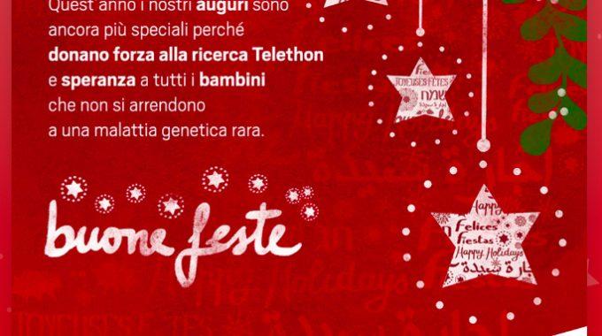 TELETHON Biglietto Natale Azzurra 2019
