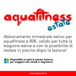 Abbonamento Trimestrale Aquafitness Estivo A 80€